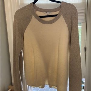 Madewell size M cream/beige knit sweater